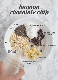 Overnight oats med banan och choklad