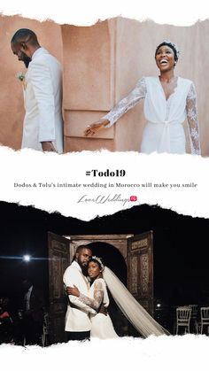 Nigerian makeup artist and beauty influencer, Dodos  Uvieghara got married to Tolu Itegboje last year in Morocco.   Watch highlights from their #Todo19 intimate wedding Tolu, Nigerian Weddings, Make You Smile, Got Married, Morocco, Real Weddings, Highlights, Watch, Wedding Dresses