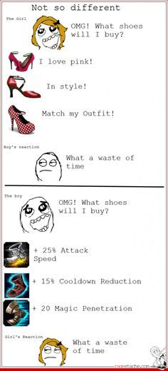 Guys Picking Shoes vs Girls Picking Shoes. LOL.