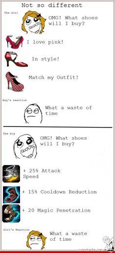 Guys Picking Shoes vs Girls Picking Shoes. LOL.