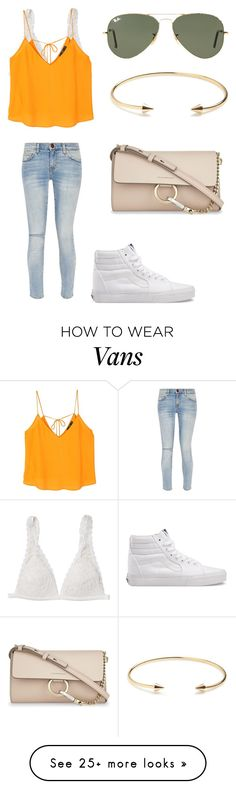 """Going to the Bib"" by sarahfohlen on Polyvore featuring Monki, MANGO, Current/Elliott, Vans, Ray-Ban, Jeweliq, Chloé, Spring and 2k17"