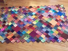 I am going to start this ASAP. I love sock yarn blankets.
