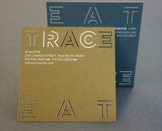 TRACE #lasercut #businesscards