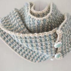 ByHaafner - free Fifties Cowl pattern in woven crochet stitch