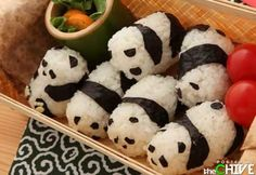 Panda onigiri...soooooooo cute.