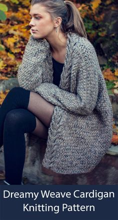 Cardigan Grande, Cable Cardigan, Cardigan Pattern, How To Purl Knit, Pulls, Long Sleeve Sweater, Diy Clothes, Knit Crochet, Knitwear