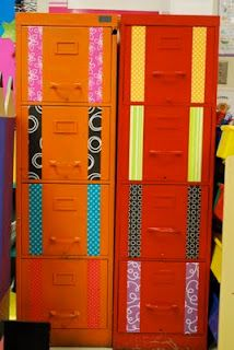 cool mod-podged file cabinets!