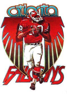Atlanta Falcons poster, c.1968.