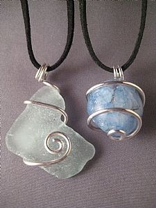 wire wrapped stone necklace - Google Search
