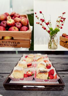 Surprise... We Got Married! Part II: The Story & The Styling » Eat Drink Chic. Strawberies & scones! {loved it}