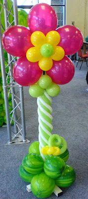 cmo hacer una columna con globos decoracin con globos fiestas y todo eventos