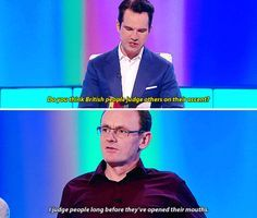Jimmy Carr and Sean Lock on accents. | 21 Celebrity Quotes That Perfectly Sum Up Life In Britain