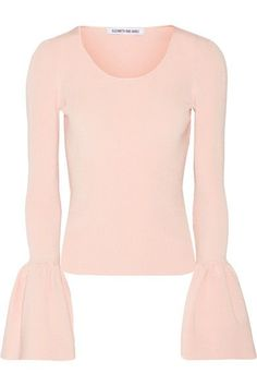 Blush ribbed-knit Slips on 77% viscose, 21% nylon, 2% spandex Dry clean Imported