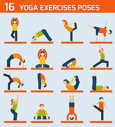 A few yoga poses