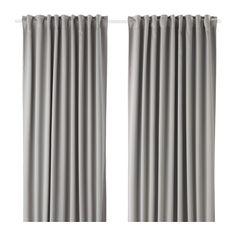 MAJGULL Zatemňovací závěsy, 1 pár IKEA Zatemňovací závěsy mají speciálně upravený povrch, který blokuje procházející světlo.