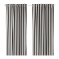 IKEA - MAJGULL, Block-out curtains, 1 pair, , The blackout curtains have a special coating that blocks light from shining through.Effective at keeping out both draughts in the winter and heat in the summer.The curtains can be used on a curtain rod or a curtain track.The heading tape makes it easy for you to create pleats using RIKTIG curtain hooks.You can hang the curtains on a curtain rod through the hidden tabs or with rings and hooks.