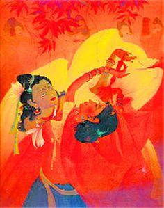 Holi, a painting by Muhammad Abdul Rehman Chughtai