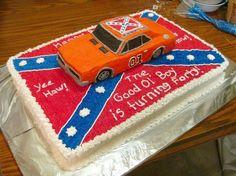 Herzöge von Hazzard-General Birthday Cakes Picture im Geburtstagskuchen 10 Birthday Cake, Birthday Cake Pictures, Homemade Birthday Cakes, Adult Birthday Cakes, Cupcakes, Cupcake Cookies, Country Wedding Cakes, Different Cakes, Cake Decorating Supplies