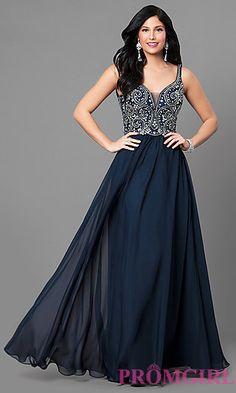 f263e515a0 V-Neck Nina Canacci Long Prom Dress. Plus Size Formal ...