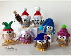 Pirate owl amigurumi PDF crochet pattern ebook by Nowacrochet