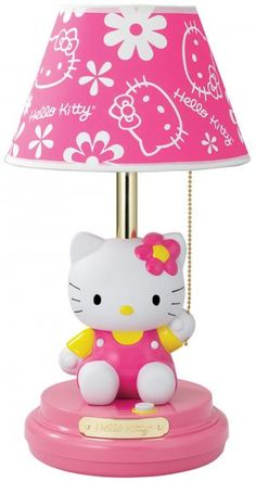 hello kitty lamp for the girls room