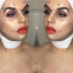 Plastic surgery anyone? @chrishayes___ busts out another #Halloween inspired piece created with the help of #furlesscosmetics brushes