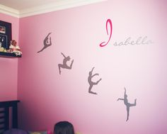 Our modern dance wall decal design installed with a custom name decal.  Looks great for a girls' room who is into dancing.  Designed by Cool Art Design.  Installed by customer.