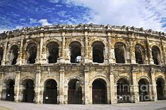 Roman Arena In Nimes France-I did get to climb around inside this arena.  It was kind of weird to think about the Roman activities that took place here.  It could be flooded for aquatic games.