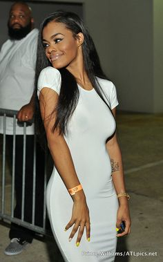 Teyana Taylor arrives at LudaDay's White Party