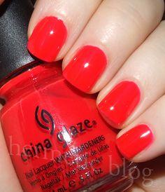 bright red nail polish | Bright Coral-Red Nail Polish Comparisons ...