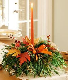 This is our centerpiece for Thanksgiving this year it is affordable and will dress up you Thanksgiving table beautifully...