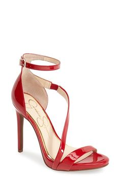 Jessica Simpson 'Rayli' Patent Ankle Strap Sandal (Women) available at #Nordstrom