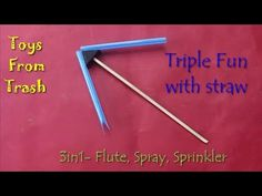 Triple fun with straw | Telugu - YouTube