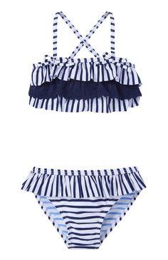 Primark - Biquíni com folho azul-marinho às riscas