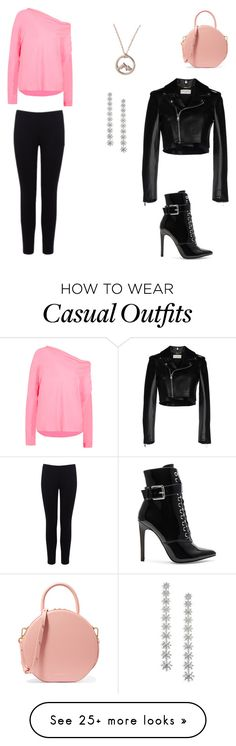 """""""Clean and casual"""" by kittenlover22516 on Polyvore featuring Emilio Pucci, Mansur Gavriel, Warehouse, Yves Saint Laurent, Adriana Orsini and Danielle Guizio"""