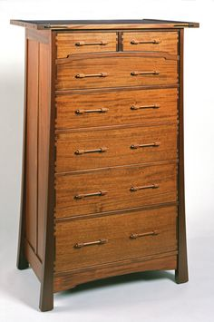 Greene and Greene style, Aurora chest of drawers,
