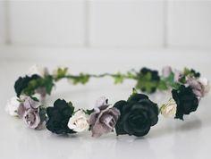 Grey-Scale Flower Crown