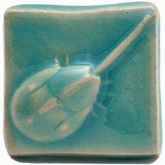 """ceramic """"horseshoe crab"""" tile"""