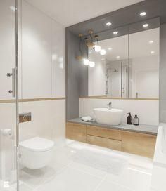 mieszkanie na wynajem w Gdyni - Mała łazienka w bloku w domu jednorodzinnym bez okna, styl skandynawski - zdjęcie od SAJE ARCHITEKCI Joanna Morkowska-Saj