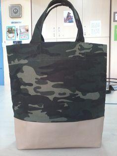 Deri ve kot kumaşla yaptığım çanta.