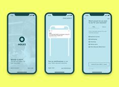 Holvi Mobile App Onboarding.   #color #typography