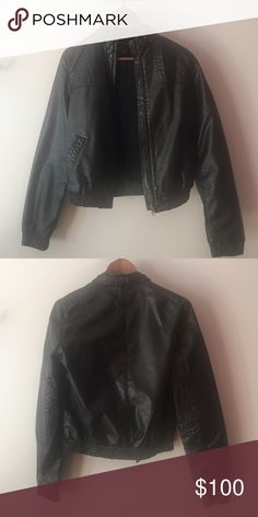 French Connection pleather jacket Used bomber jacket French Connection Jackets & Coats