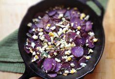 Crispy Purple Potatoes with Fresh Oregano + Crumbled Egg  @Carol Witherell Food + Love