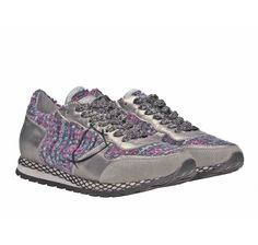 Philippe Model silver leather women sneakers (SRLDBS01) - Bledoncy