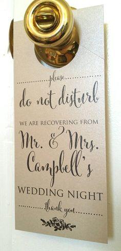 Wedding Do Not Disturb Door Hanger Set of 10 by SparkleandTwineCo