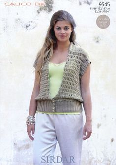 Sirdar--Ladies' Sleeveless Cardigan