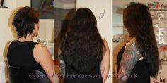 Before and after. Russian Slavic hair extensions by Kristiina Kalev