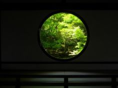 Genko-an's (源光庵) 'Window of Enlightenment' (悟りの窓 'Satori-no-Mado'). Circles play an important role in Zen (禅) thought. Enso (円相 'Circle') symbolizes absolute enlightenment, freedom of the mind, elegance & the universe. © @KyotoDailyPhoto Buddhist Teachings, Buddhism, Buddhist Meditation, See The Sun, Buddha Head, China Art, Writing Inspiration, Windows, Circles