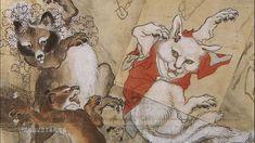 幕末、明治時代的鬼才浮世繪畫師--河鍋曉齋(Kawanabe Kyōsai)6歳で 歌川国芳に入門。9歳で狩野派に転じる