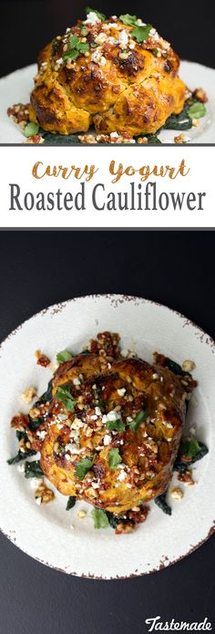 Spice up ordinary cauliflower with feta, pine nuts and yellow curry.